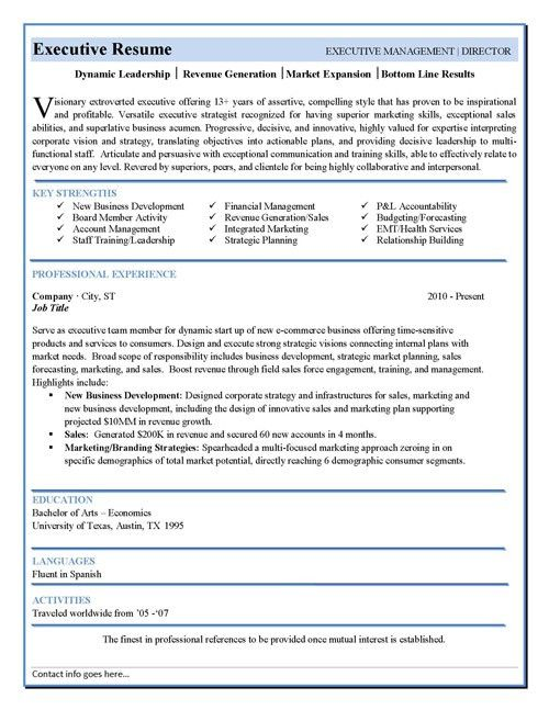 Executive Resume Template | cyberuse