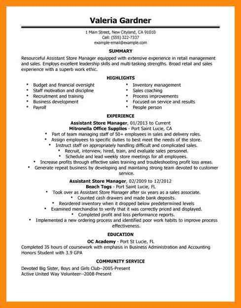 gorgeous inspiration retail manager resume 15 doc500708 retail ...