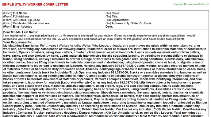 Distributor Cover Letters