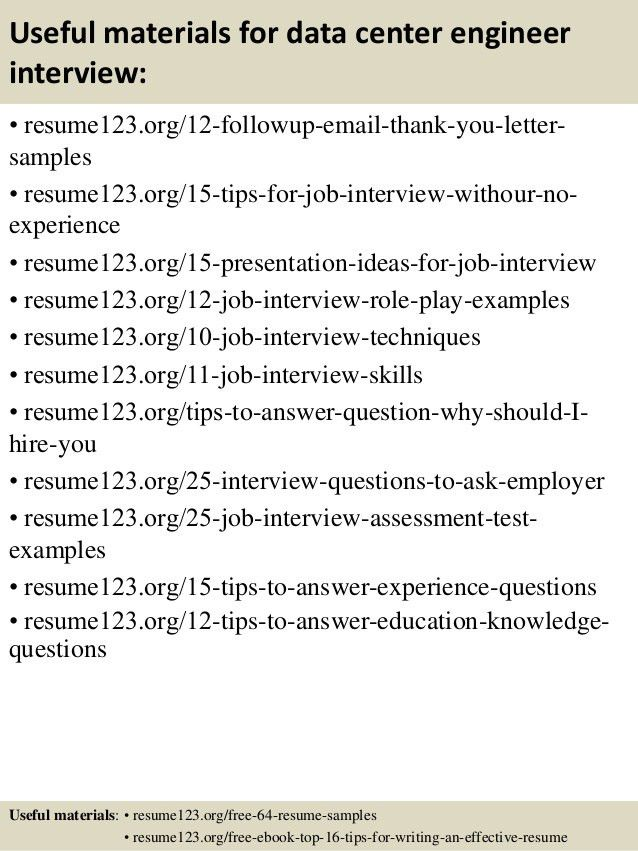 Merchant Marine Engineer Sample Resume 16 Data Center Resume ...
