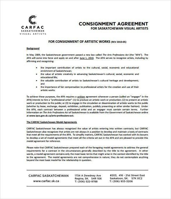 Consignment Form Template | Cvletter.billybullock.us