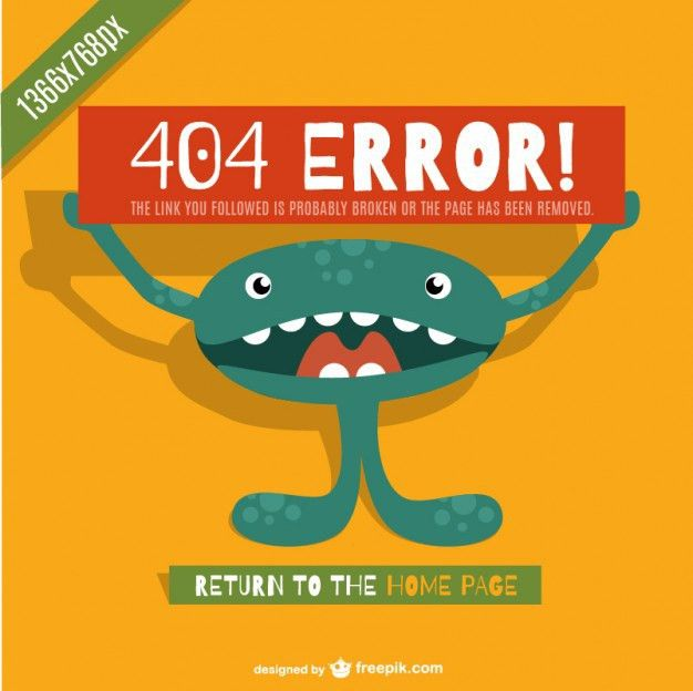 Page not found 404 error template Vector | Free Download