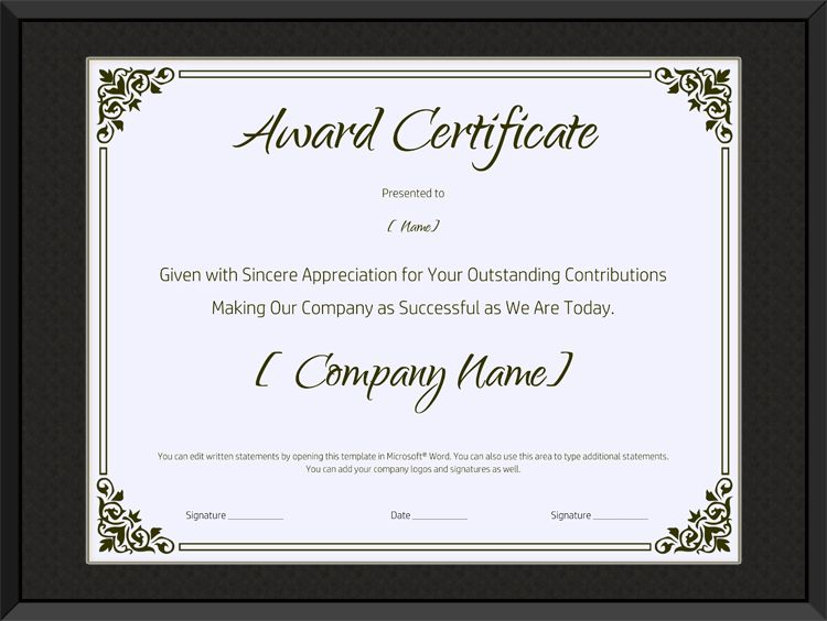 Certificate of Appreciation Templates - Certificate Templates