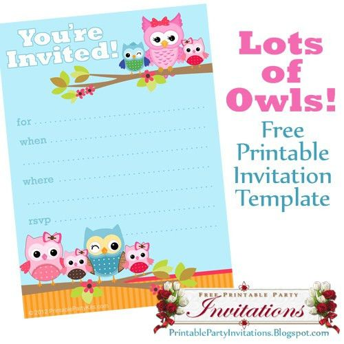 Party Invitations: Free Printable Party Invitations Recomended ...