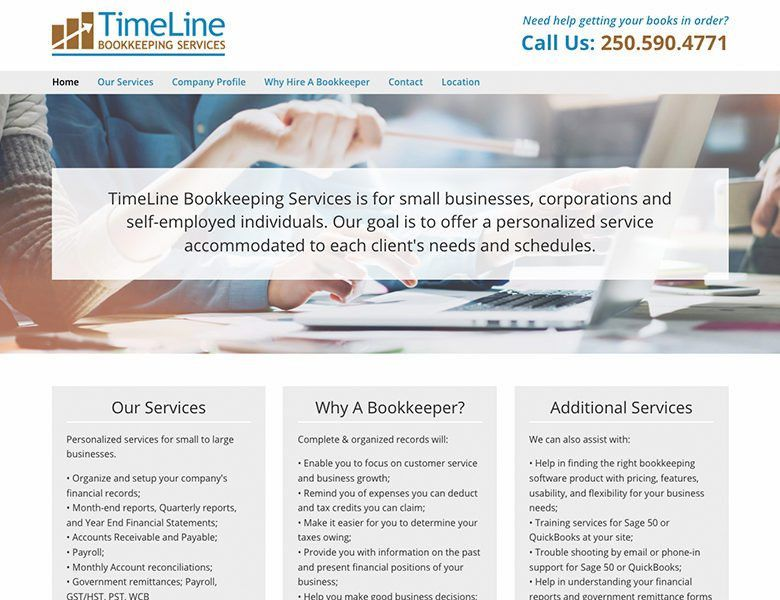 TimeLine Bookkeeping Services - Star Graphic Design