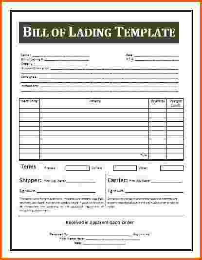 Bill Of Lading Template. Straight Bill Of Lading - Short Form ...
