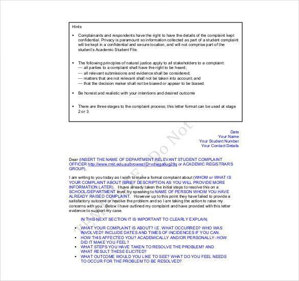 15+ Complaint Letters Templates | HR Templates | Free & Premium ...