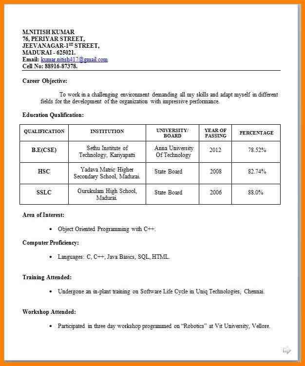 8+ biodata format for teacher job | resume language