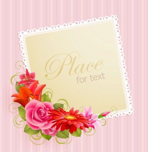 Flower greeting cards 01 vector Free vector in Adobe Illustrator ...