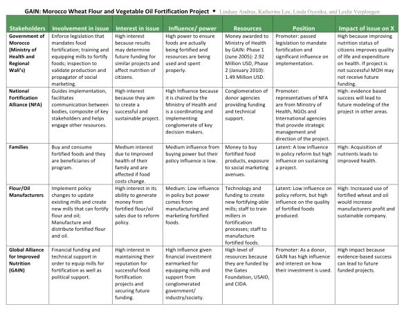 Stakeholder Analysis | Leslie Verploegen