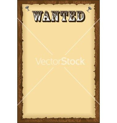 Free Old West Wanted Poster Clip Art (14+)