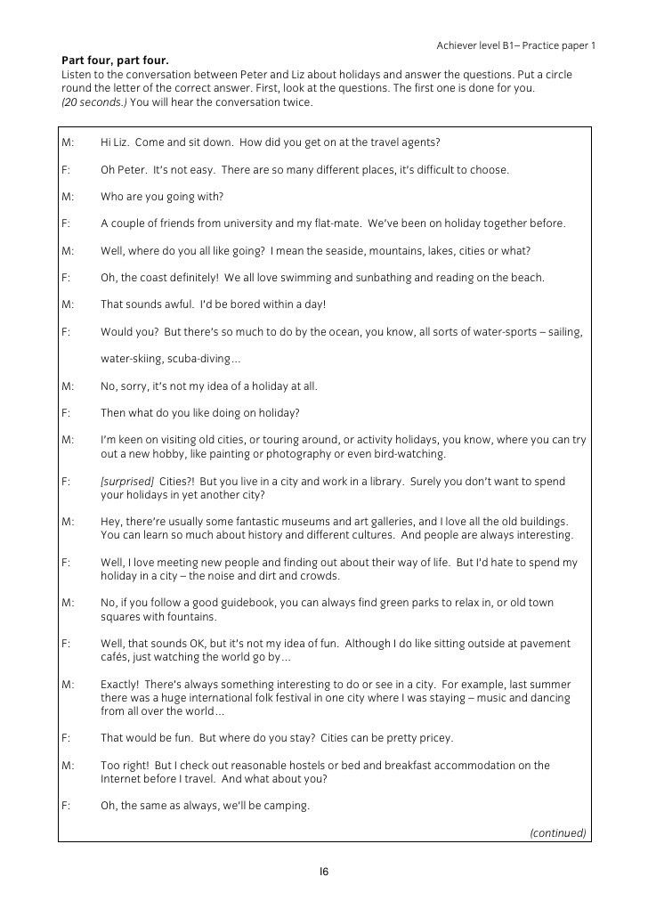 Iesol.b1.achiever.listening.script.practice.paper.2