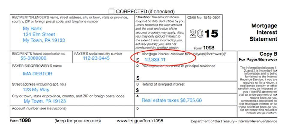 Understanding Your Forms: Form 1098, Mortgage Interest Statement