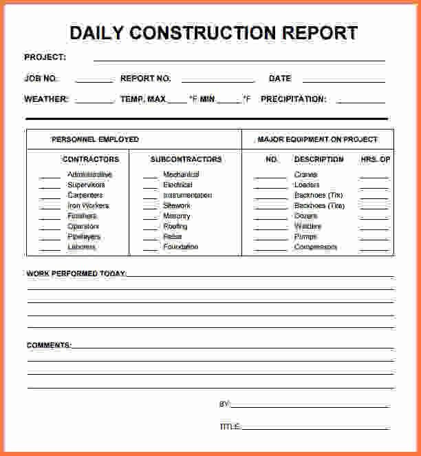 daily report template - Sales Report Template