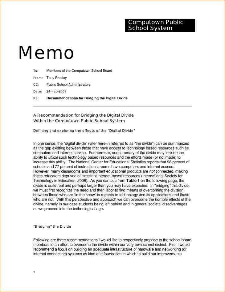 Standard Memo Templates. Morgan & Westfield Sample Selling ...