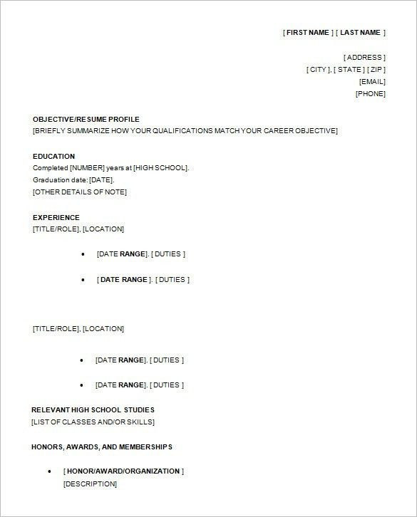 Nice 10+ High School Resume Templates U2013 Free Samples, Examples .