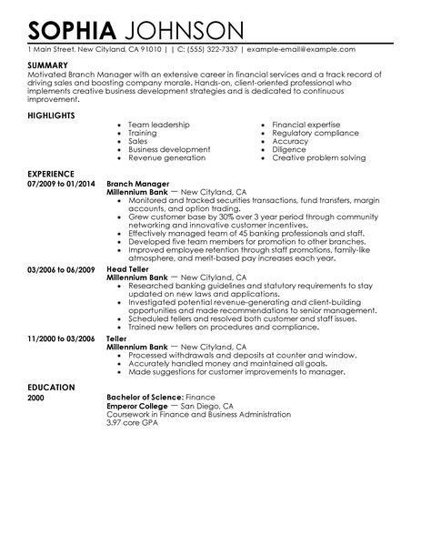 Finance Manager Resume Template | Basic Resume Templates