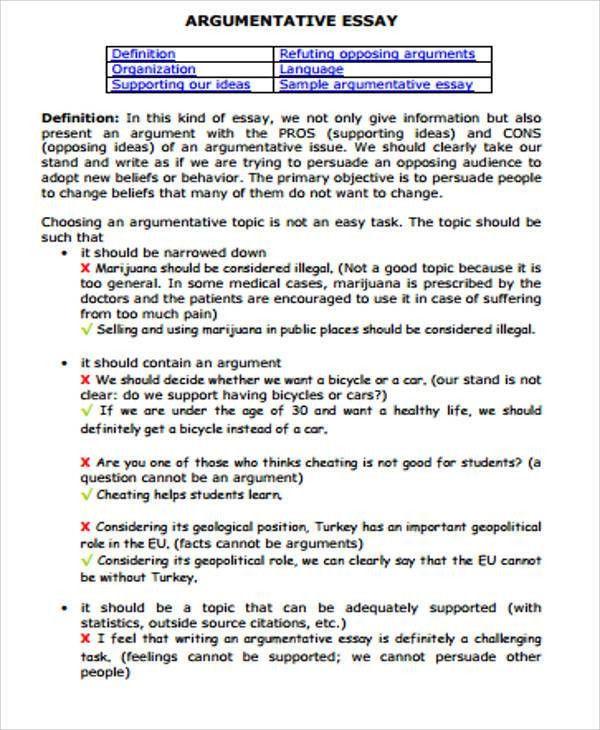 Essay Sample In PDF   12+ Examples In PDF