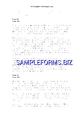 Scholarship essay samples
