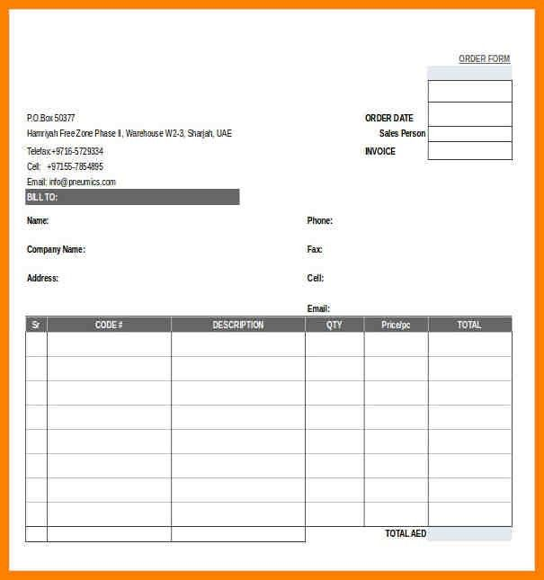 10+ free order form template | obituary template