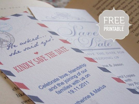 8 Free Printable Save the Dates: But, Should You Print Your Own?