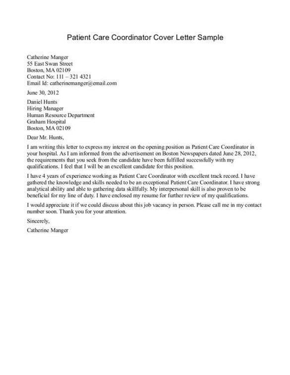Cna Cover Letter