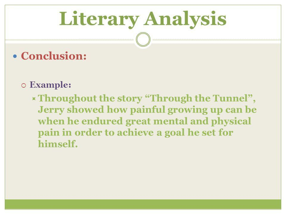 What is a Literary Analysis? - ppt video online download