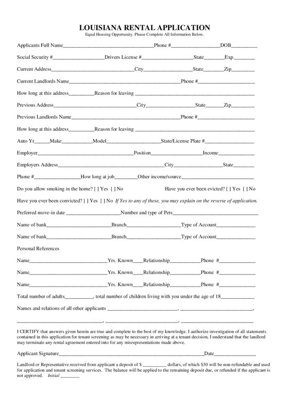 Louisiana Rental Lease Agreement Forms | LegalForms.org