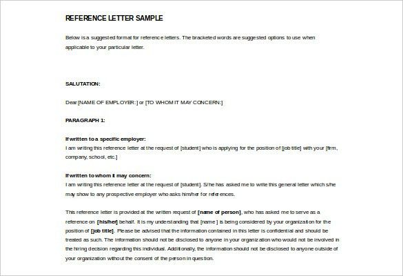Sample Reference Letter From Employer To Open A Bank Account ...