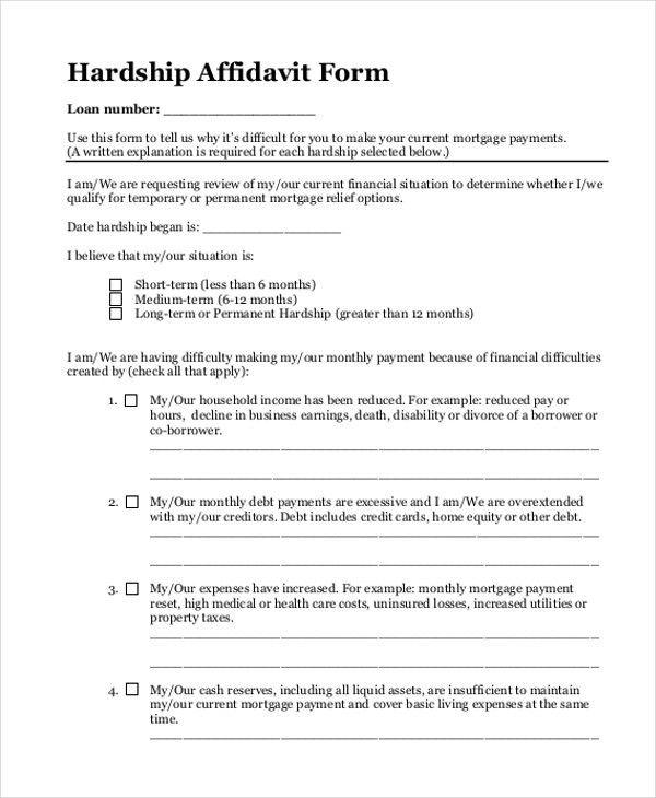 Sample Blank Affidavit Form - 9+ Free Documents in PDF