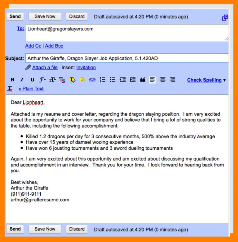Email Samples For Sending Resume How To Send A Resume Via