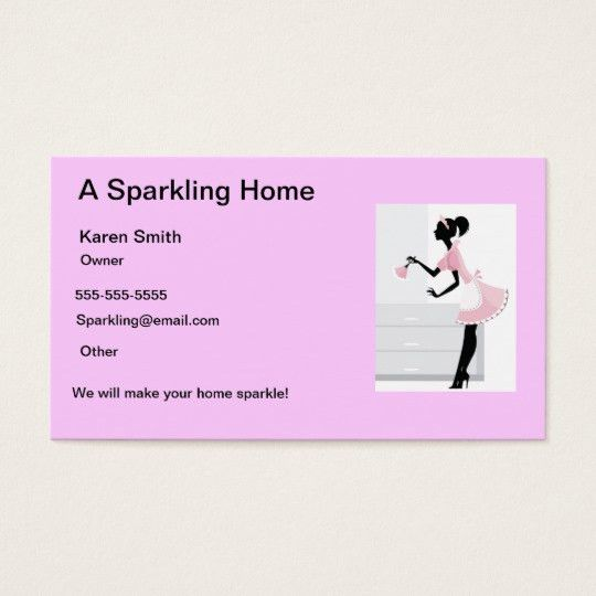 Home Cleaner Business Cards & Templates   Zazzle