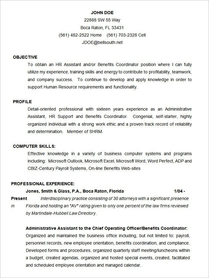 Word Resume Template Download. Nuvo Entry Level Resume Template ...
