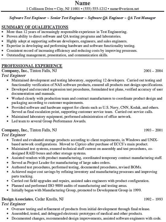 sample qa analyst resume professional skills for resume business ...