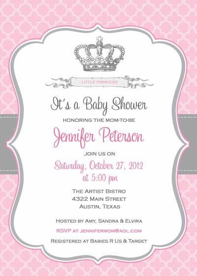 Free Printable Princess Baby Shower Invitations | afoodaffair.me