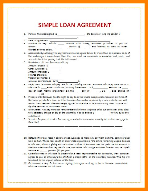 5+ loan agreement letter sample | target cashier