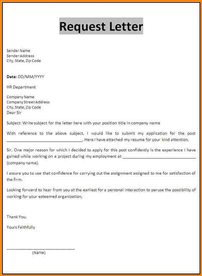 6+ request application format | quote templates