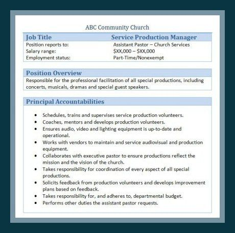 Production Manager Job Description. General Manager Job ...