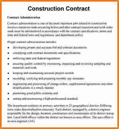 6+ construction contract template | cashier resume