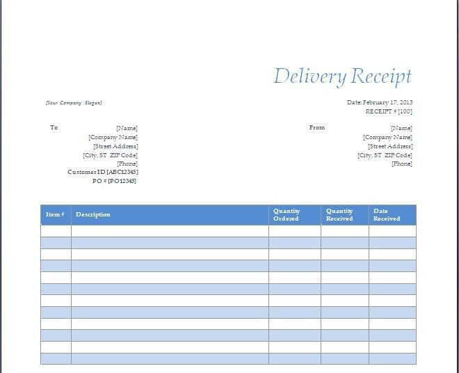 Delivery Confirmation Template : Selimtd