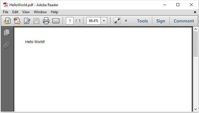 Java PDF Hello World Example - JavaScan.com
