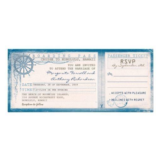 904 best Weddings - Stationery - Invitations - Boarding Pass ...
