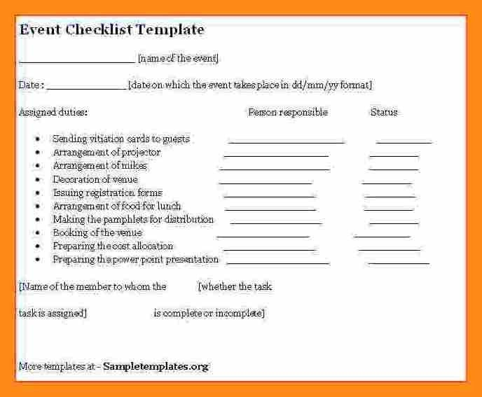 Event Checklist Template. Meeting Checklist Template Images ...