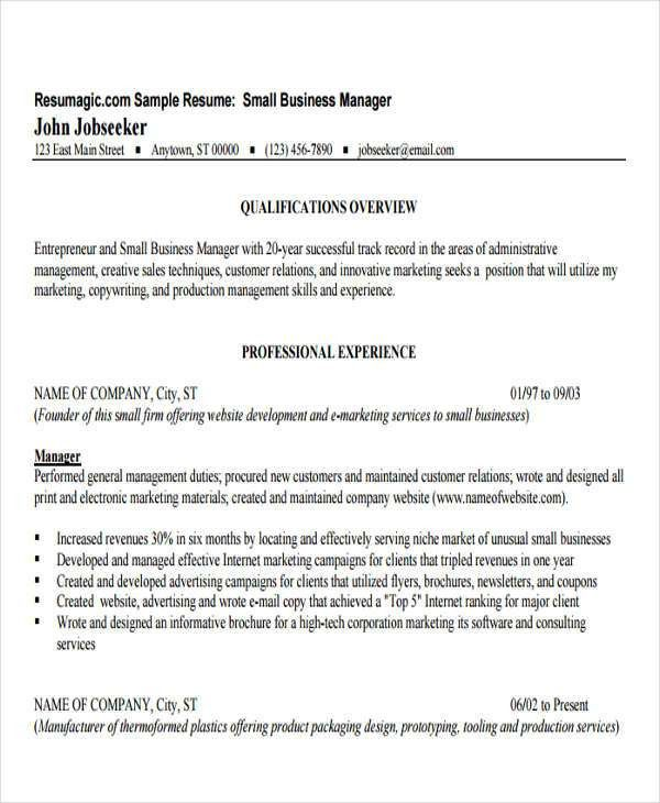 office administrator resume templates. sample business resume ...