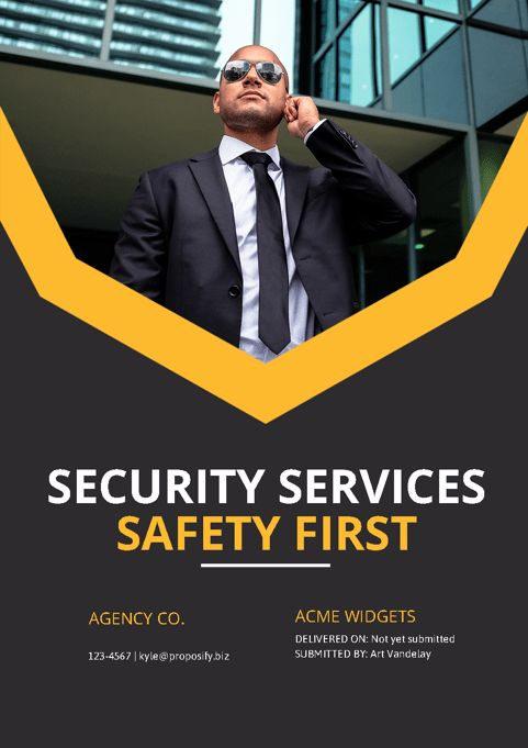 Security Service Proposal Template. free business proposal ...