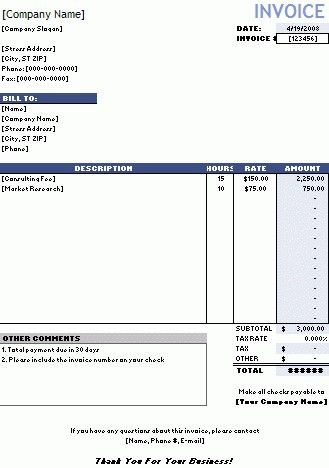 Samples Of Invoices For Services - Best Resume Collection