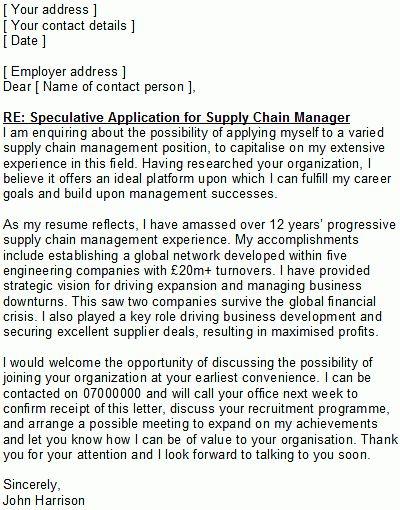 9 Supply Chain Management Cover Letter Cover Letter supply chain ...