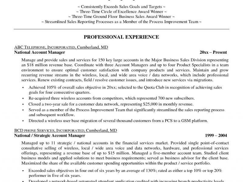 Account Manager Resume - Resume Example
