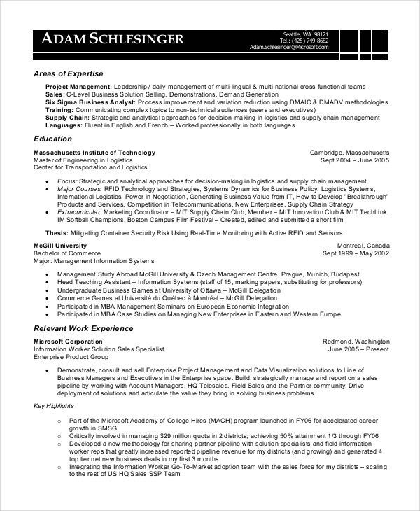 8+ Business Analyst Resumes - Free Sample, Example, Format | Free ...