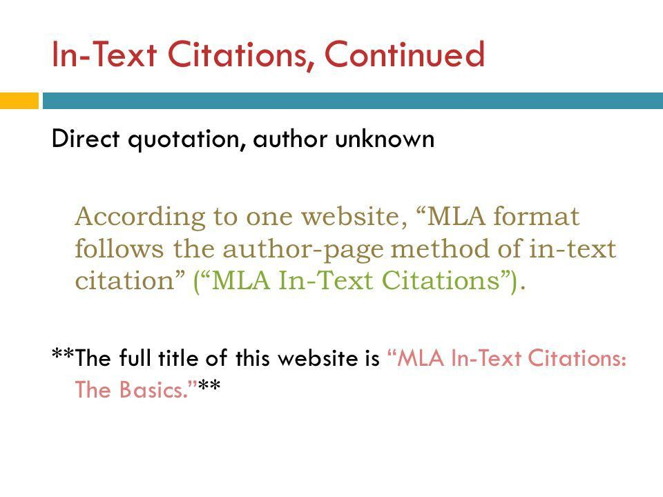 MLA Style: An Introduction - ppt video online download